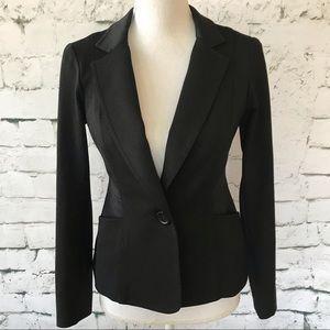 Yoana Baraschi Black One-Button Blazer Size Small